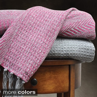 100-percent Cotton Cable Knit Throw Blankets (Pack of 2)