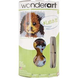 "Wonderart Latch Hook Kit W/Tool 8""X8""-Good Puppy"