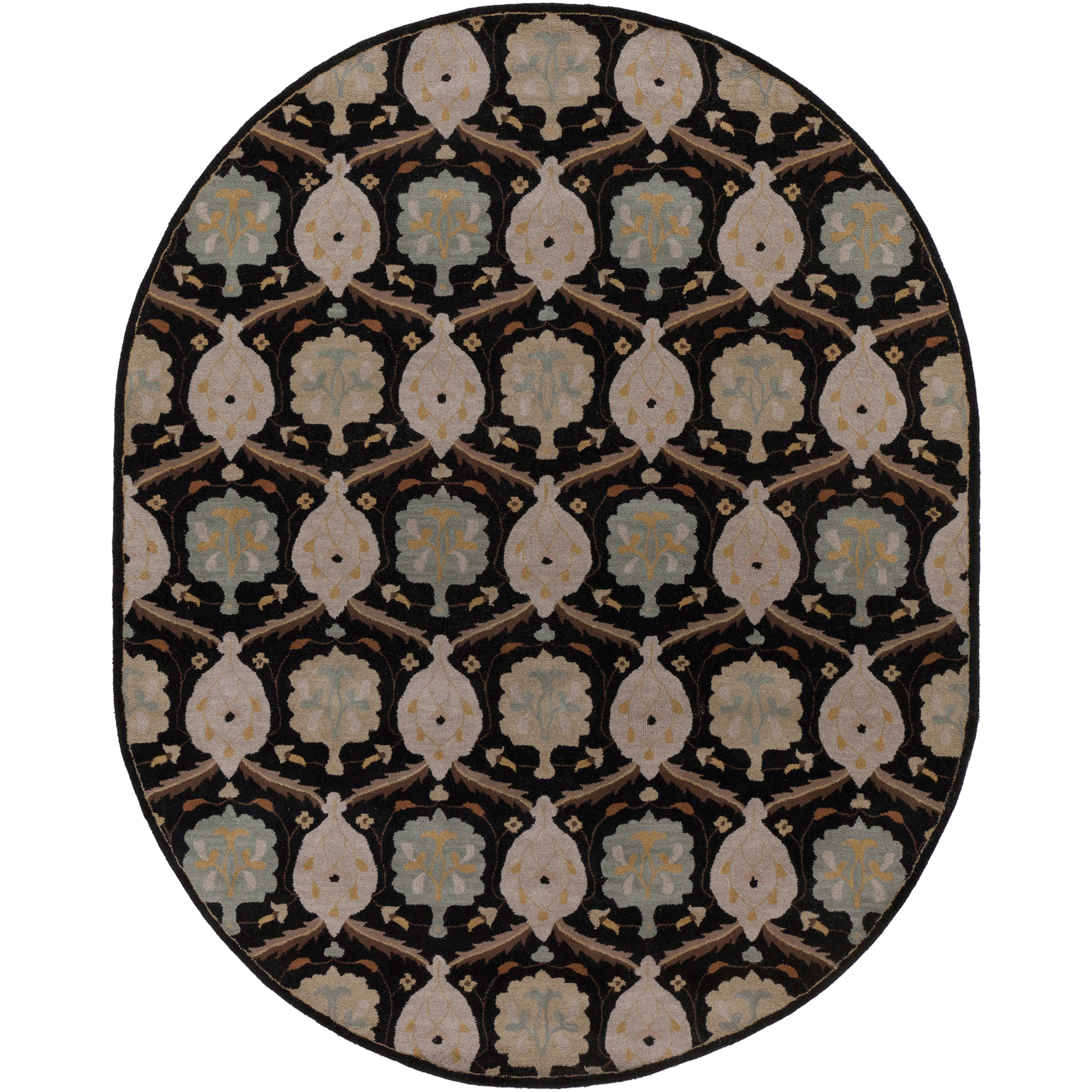 Surya Hand-Tufted Kathy Wool Floral Area Rug (8' x 10' Oval) at Sears.com