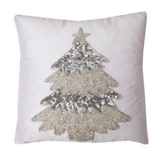 Selena Christmas Tree 12-inch Throw Pillow