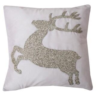 Presley Reindeer Throw Pillow