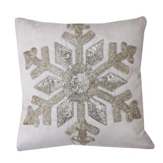 Mariana Snowflake 12-inch Throw Pillow