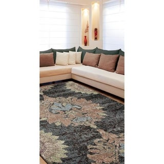 Euphoria Collection Katie Gray Olefin Rug (5'3 x 7'6)