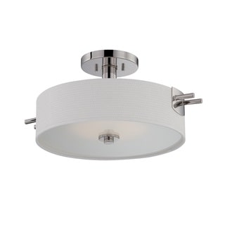 Nuvo Claire 1 Light LED Semi-Flush Mount