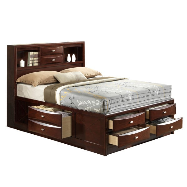 Linda King-size Merlot Storage Bed