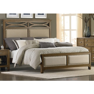 Liberty Town and Country Distressed Sandstone Upholstered Bed