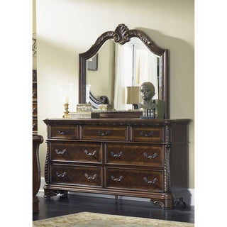 Liberty Rich Cognac 7-drawer Dresser and Mirror Set