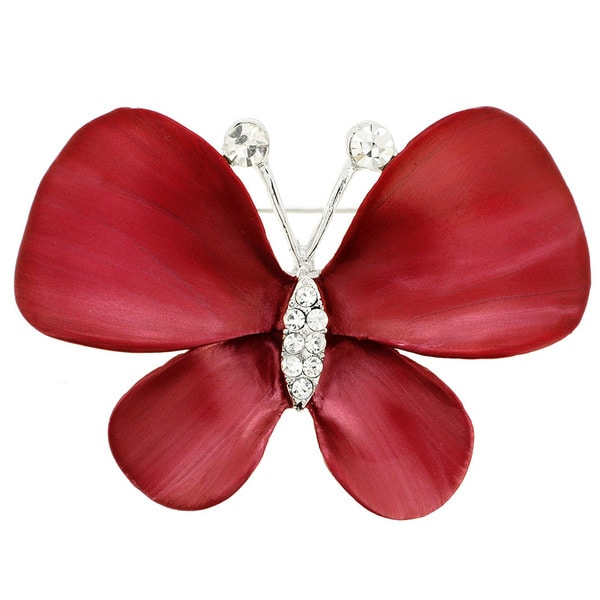 Crystal Butterfly Pin Brooch
