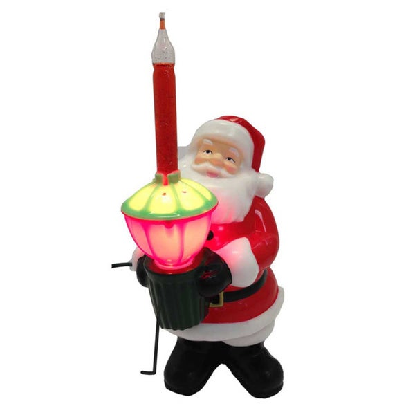 Kurt Adler 7-inch Injection Mold Santa Bubble Light Tabletop Decoration