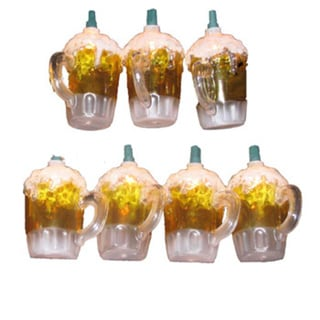 Kurt Adler 10-light Plastic Beer Mug Light Set