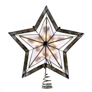 Kurt Adler 10-inch 5-point Large Star with Smoke Capiz Treetop