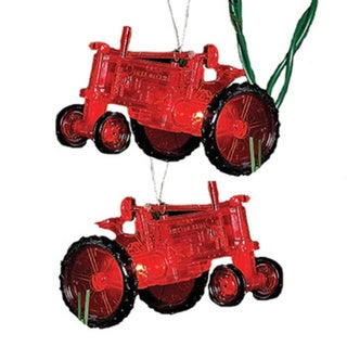 Kurt Adler 10-light Red Tractor Light Set