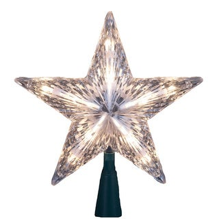 Kurt Adler 10-light 7-inch Clear Star Treetop