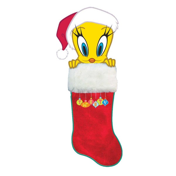 Kurt Adler 21-inch Tweety Bird Plush Head Stocking