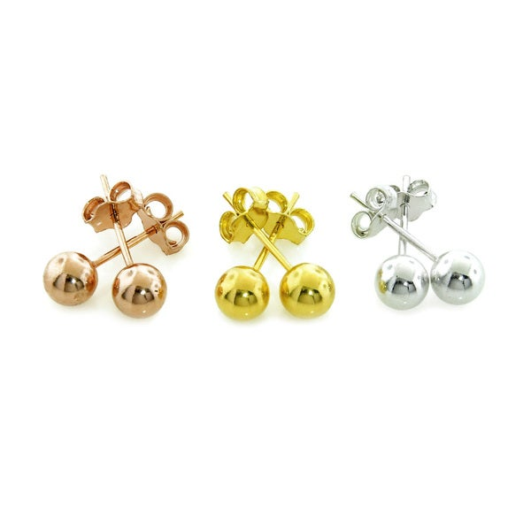 Eternally Haute Sterling Silver 5mm Ball Studs