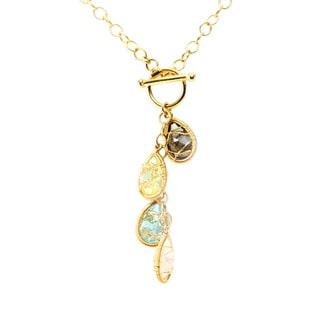 Michael Valitutti Sterling SIlver Multi-gemstone with Charms Necklace