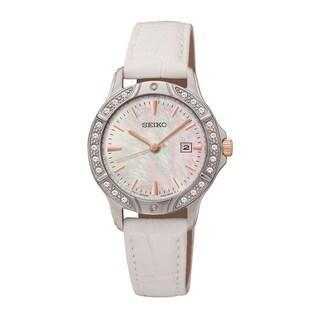 Seiko Women's SUR871 Stainless Steel and Swarovski Crystal Watch