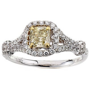 Neda Behnam Diamonds for a Cure 14k White Gold 4/5ct TDW Yellow and White Diamond Ring (G-H, SI1-SI2)