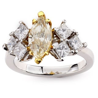 Neda Behnam Diamonds for a Cure 14k White Gold 2 5/8ct TDW Yellow and White Diamond Ring (G-H, SI1-SI2)