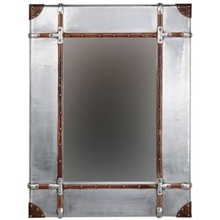 Linon Aluminum Framed Wall Mirror
