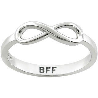 Eternally Haute Sterling Silver BFF Infinity Ring