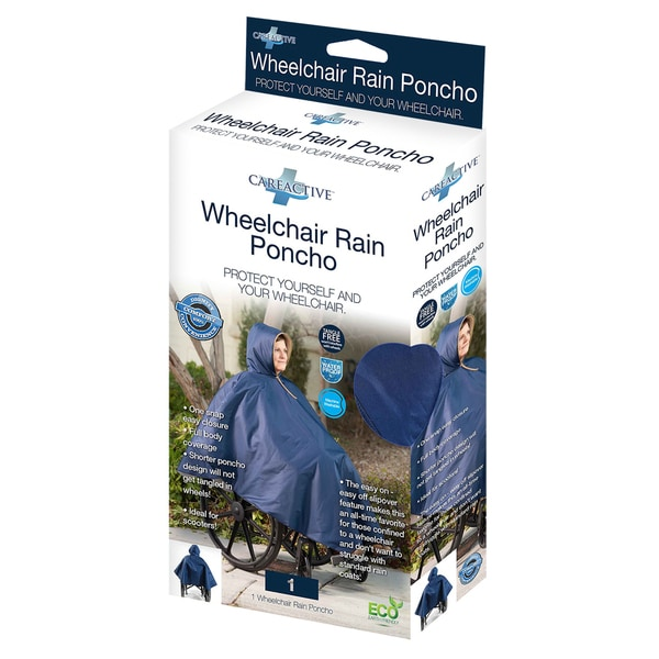 CareActive Navy Wheelchair Rain Poncho