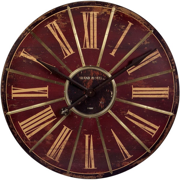Large Red Wall Clock