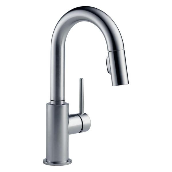 delta trinsic single handle single hole pull down kitchen