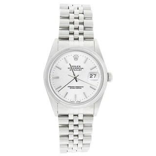 Pre-Owned Rolex Men's 16200 Datejust Stainless Steel Jubilee Bracelet White Stick Watch