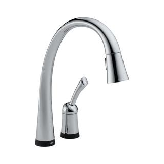 Delta Pilar Chrome Single Handle Pull-down Kitchen Faucet with Touch2O(R) Technology