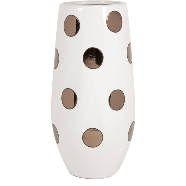 Metallic Polka Dot Vase