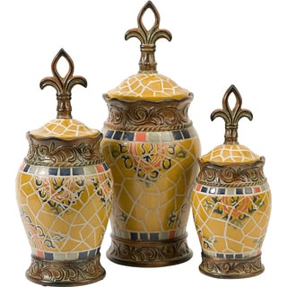 Vallarta Ceramic Canisters (Set of 3)