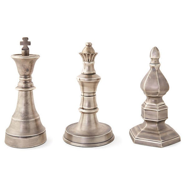 Antique Chess Finals Set Of 3 Overstock Shopping