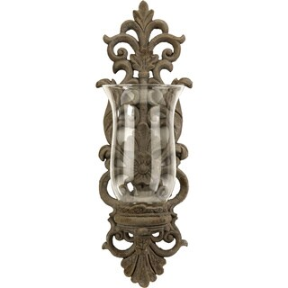 Pollianna Candle Wall Sconce with Glass Hurricane