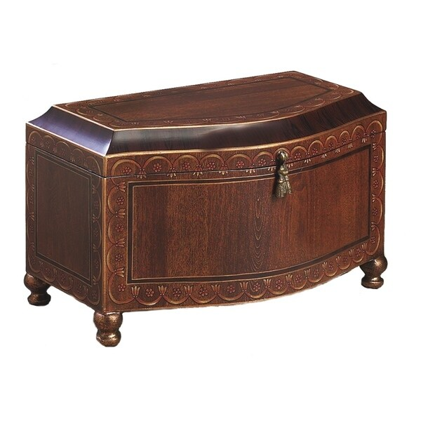 Wood Finish Footed Large Chest