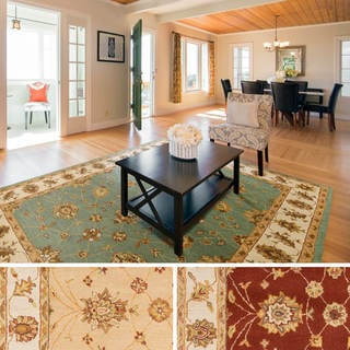 Hand-Tufted Isamu Bordered Wool Rug (4' x 6')