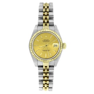 Pre-owned Rolex Women's 6917 Datejust Two-tone Champagne Stick Watch