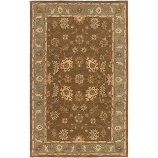 Artistic Weavers Feng Bordered Wool Area Rug (7'6 x 9'6)
