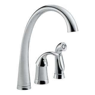 Delta Pilar Chrome Single Handle Kitchen Faucet with Spray