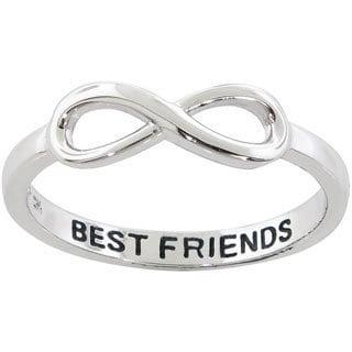 Eternally Haute Sterling Silver Best Friends Infinity Ring