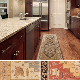 Artistic Weavers Haru Bordered Wool Area Rug (2'3 x 12')