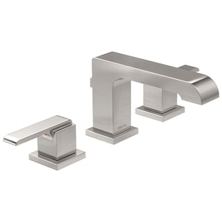Delta Ara Brilliance Stainless Two Handle Widespread Lavatory Faucet