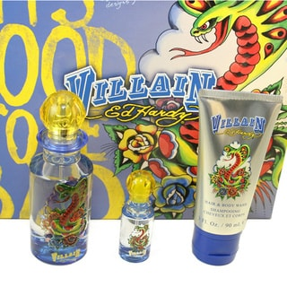 Ed Hardy Villain Men's 3-piece Fragrance Set