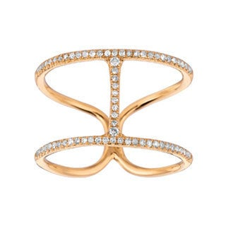 14k Yellow Gold 1/5ct White Diamond H Ring (G-H, I1)