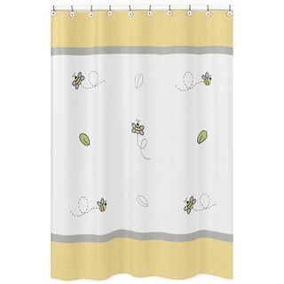 Sweet Jojo Honey Bumble Bee Shower Curtain