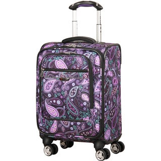 Ricardo Beverly Hills Mar Vista Purple Paisley 17-inch Carry On Spinner Upright Suitcase