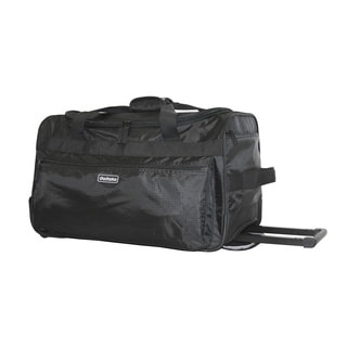 Dadamo 21-inch Black 4-pocket Rolling Carry On Upright Duffel Bag