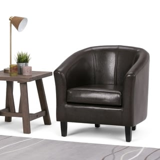 Parker Faux Leather Accent Tub Chair