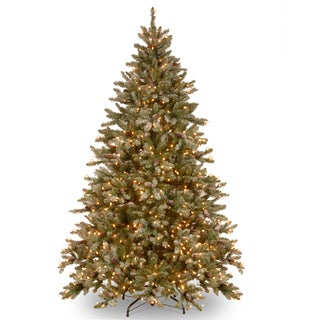 Snowy Concolor Fir Hinged Tree with 750 Lights