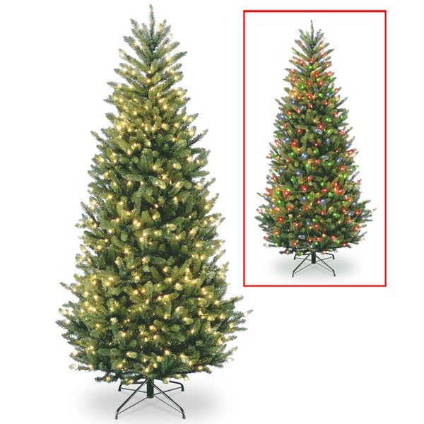 Natural Fraser Slim Fir Hinged Tree with 900 Lights 14174879